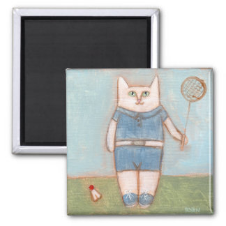 Theo Badminton 2 Inch Square Magnet