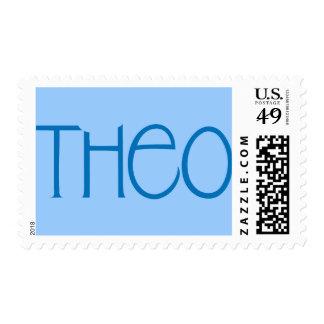 Theo blue Stamp