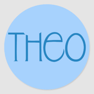 Theo blue Sticker