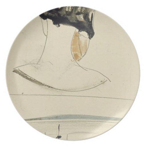 Theo Doesburg- Nelly van Doesburg y una escena del Plato Para Fiesta