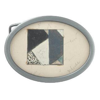 Theo Doesburg:Studie voor Contra compositie XVIII Oval Belt Buckle