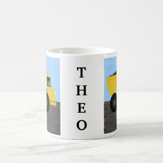 Theo Dump Truck Personalized Name Mug