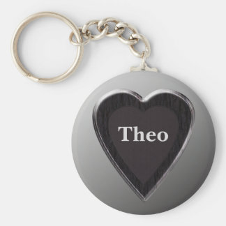 Theo Heart Keychain by 369 My Name
