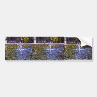 Theo Rysselberghe-  Parc Sans Souci at Potsdam Car Bumper Sticker