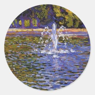 Theo Rysselberghe-  Parc Sans Souci at Potsdam Classic Round Sticker