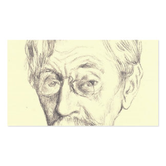 Theo Rysselberghe-Pencil sketch of Belgian poet Business Card Template