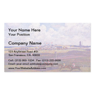 Theo Rysselberghe-Race Track at Boulogne sur Mer Double-Sided Standard Business Cards (Pack Of 100)