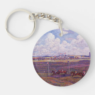 Theo Rysselberghe-Race Track at Boulogne sur Mer Keychains