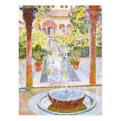 Theo Rysselberghe- The Gardens of Generalife Postcard
