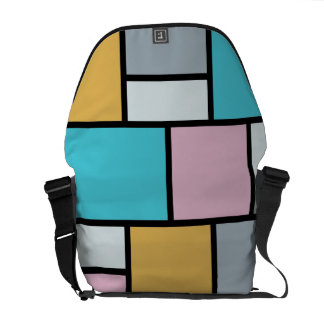 Theo Van Doesburg - Composition 17 - Mondrian Art Messenger Bag