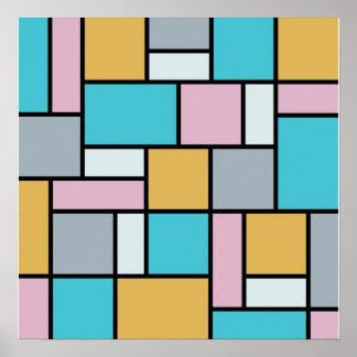 Theo Van Doesburg - Composition 17 - Mondrian Art Poster