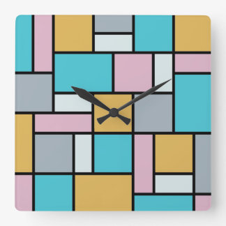 Theo Van Doesburg - Composition XVII Square Wall Clock