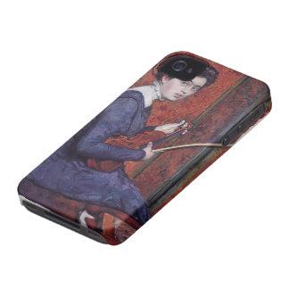 Theo van Rysselberghe- Woman con el violín iPhone 4 Funda