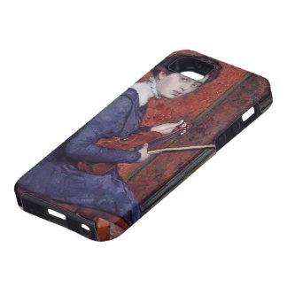 Theo van Rysselberghe- Woman con el violín iPhone 5 Cobertura