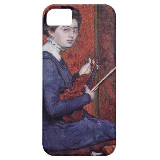 Theo van Rysselberghe- Woman con el violín iPhone 5 Coberturas