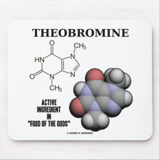 Theobromine (Chemical Molcule) Active Ingredient Mouse Pad