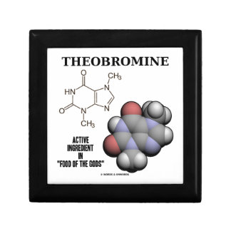 Theobromine Chocolate Molecule Active Ingredient Gift Box