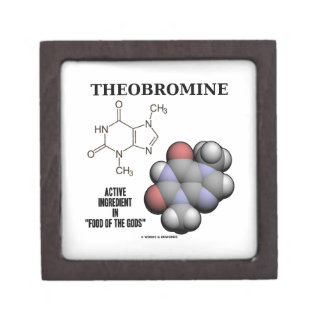 Theobromine Chocolate Molecule Active Ingredient Gift Box