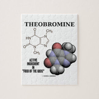 Theobromine Chocolate Molecule Active Ingredient Jigsaw Puzzle