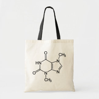 Theobromine Chocolate Molecule Canvas Bags