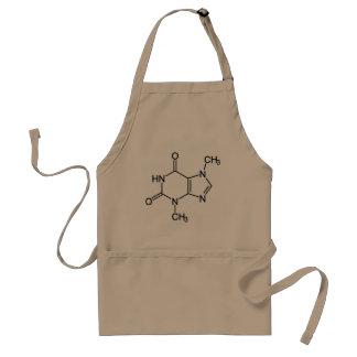 Theobromine Chocolate Molecule Chemical Diagram Adult Apron