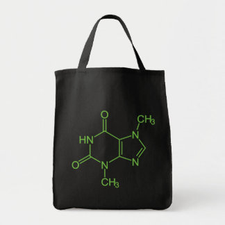 Theobromine Chocolate Molecule Chemical Diagram Tote Bag