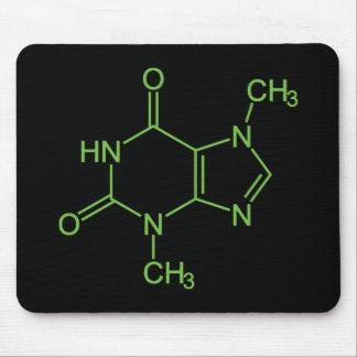 Theobromine Chocolate Molecule Mouse Pad