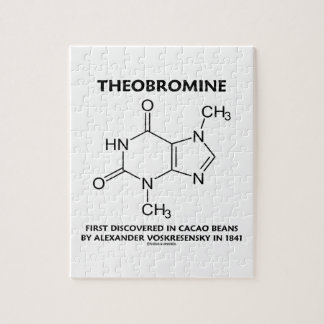 Theobromine First Discovered In Cacao Beans 1841 Jigsaw Puzzle