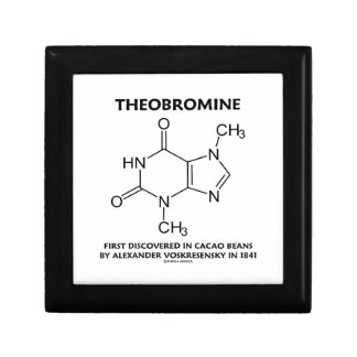 Theobromine First Discovered In Cacao Beans 1841 Keepsake Box