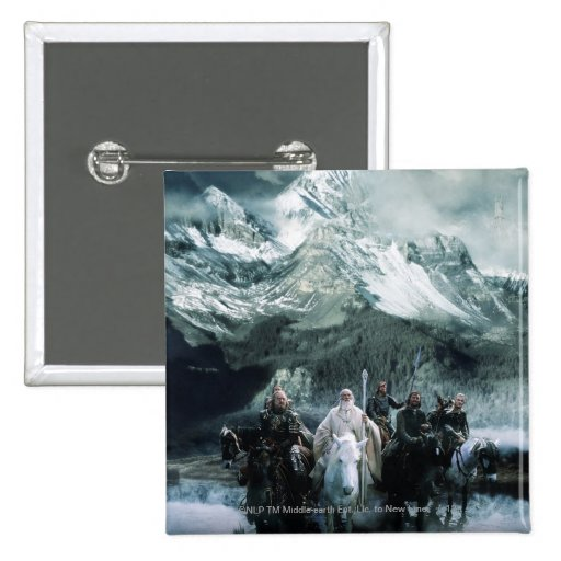 Theoden and the Fellowship Pinback Button