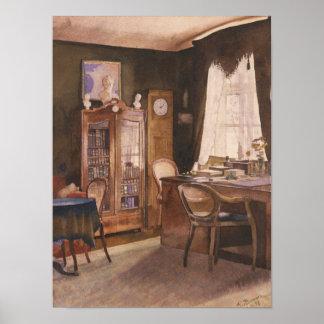 Theodor Fontane's Study Poster