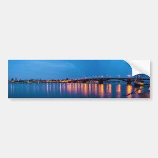 Theodor Heuss Bridge over the Rhine River Bumper Sticker
