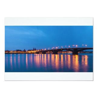 Theodor Heuss Bridge over the Rhine River Card
