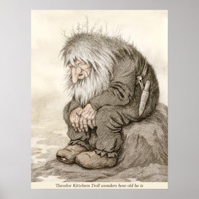 Theodor Kittelsen Troll wonders how old CC0232 Poster