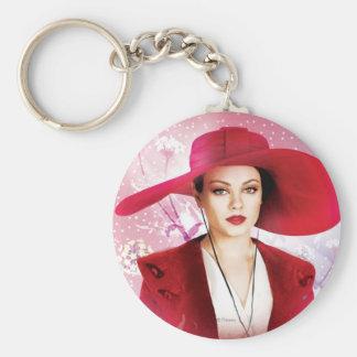 Theodora Basic Round Button Keychain