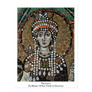 Theodora By Master Of San Vitale In Ravenna Postcard