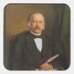 Theodore Fontane, 1883 Pegatina Cuadrada