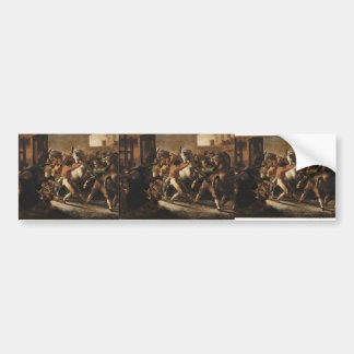Theodore Gericault- Race of the Barbarian Horses Bumper Sticker