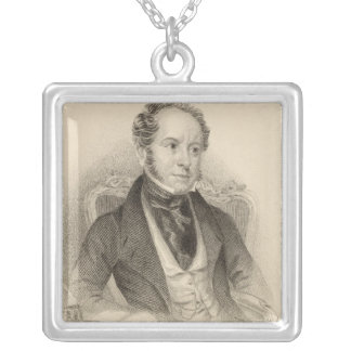 Theodore Hook, Esq., engraved by G. Murray Silver Plated Necklace