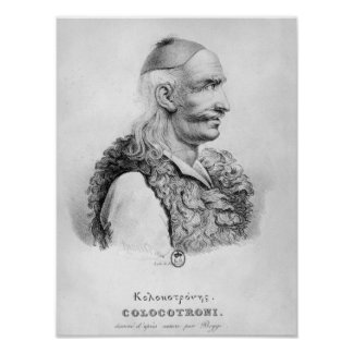 Theodore Kolokotronis  engraved by Alois Poster