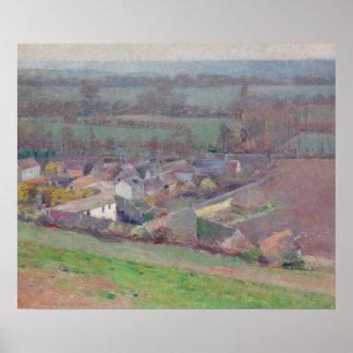 "Theodore Robinson ""Bird's eye view"" landscape art Poster"