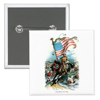 Theodore Roosevelt 1902 Pin Cuadrada 5 Cm