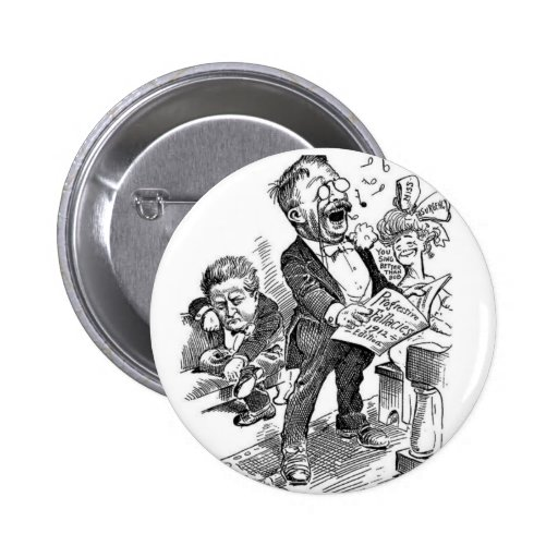 Theodore Roosevelt 1912 Political Cartoon Button