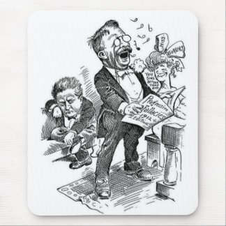 Theodore Roosevelt 1912 Political Cartoon Mouse Pad