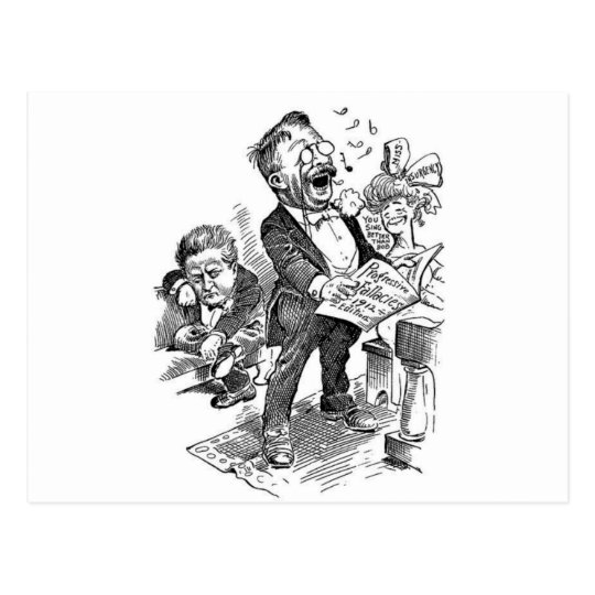 Theodore Roosevelt 1912 Political Cartoon Postcard