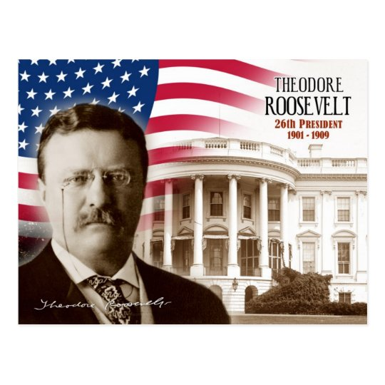 Theodore Roosevelt 26th President Of The U S Postcard