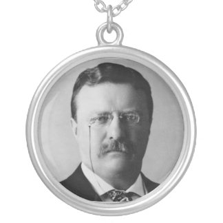 Theodore Roosevelt 26th President Silver Plated Necklace