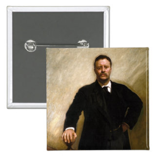 Theodore Roosevelt 2 Inch Square Button