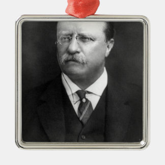 Theodore Roosevelt Adorno Navideño Cuadrado De Metal