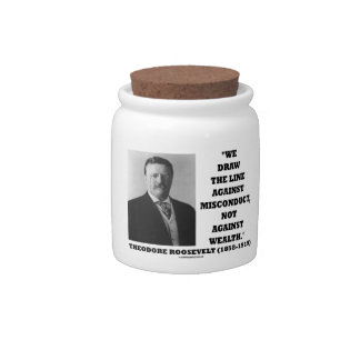 Theodore Roosevelt Against Misconduct Not Wealth Candy Dishes
